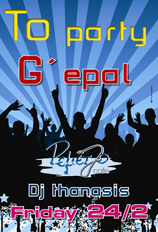 PARTY G'EPAL REMEZZO CAFE FRIDAY 24/2